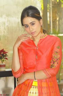 Simrat in Orange Anarkali Dress 13.JPG
