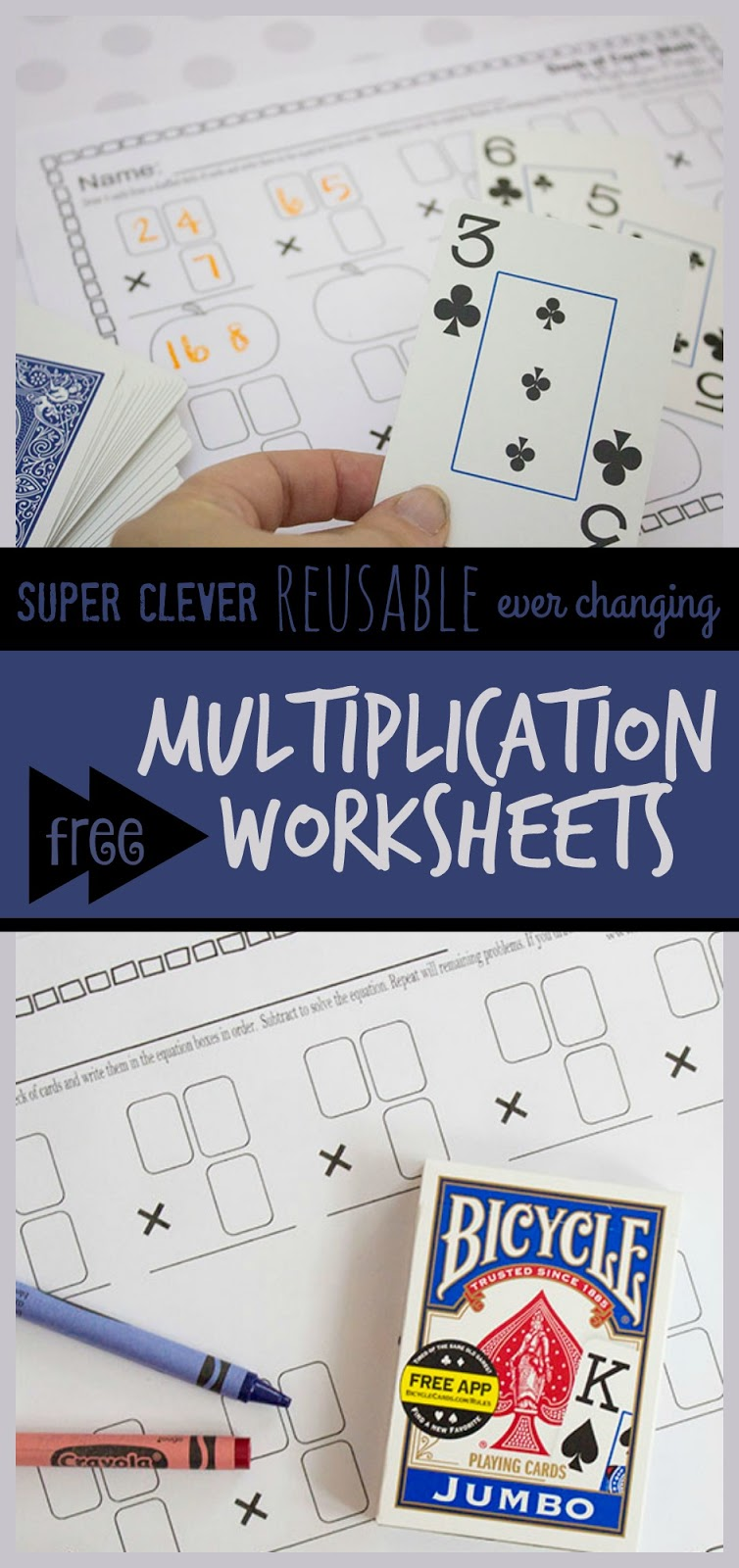 Free Deck Of Cards Multiplication Worksheets