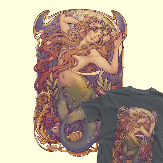 Mermaids on Teefury! - Medusa Dollmaker