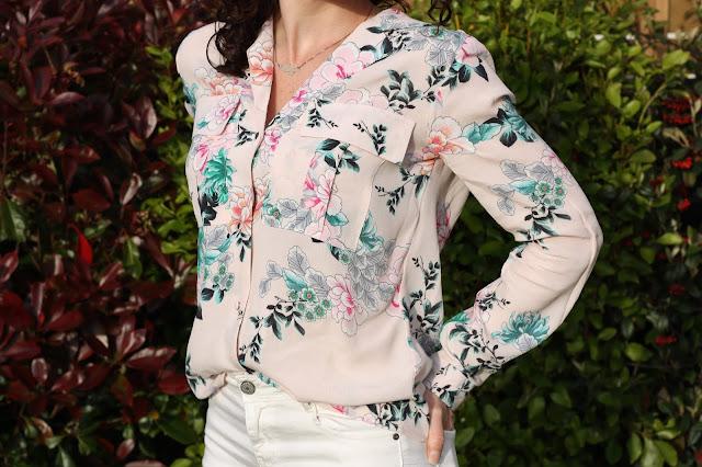 chemisier-rose-fleuri-promod