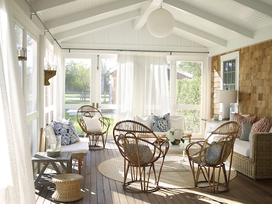 Inspiring image of a beautiful porch in beach house in the Hamptons - found on Hello Lovely Studio