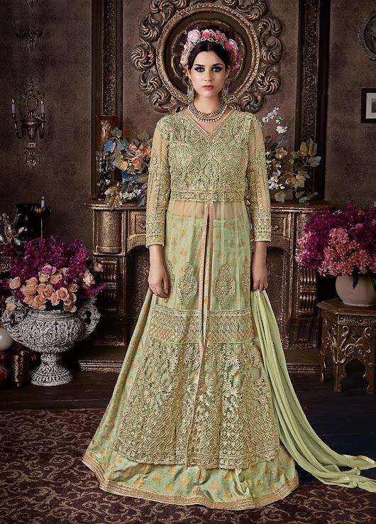 Anarkali Wedding Dresses 59 Cool  in Pista green
