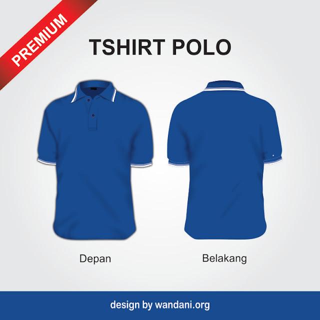 Template Tshirt Polo Biru Benhur, Desain Kaos, Mockup Tshirt, Baju, Biru