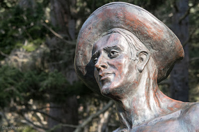 The CCC Worker Statue at Bowman Bay
