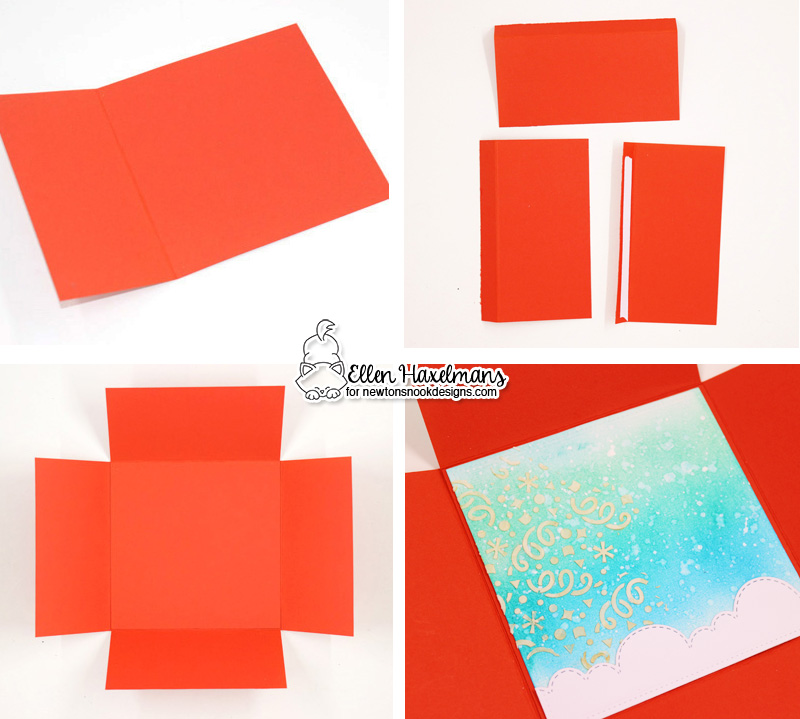 Interactive Folding Birthday Card with Ellen Haxelmans  #newtonsnook #handmade