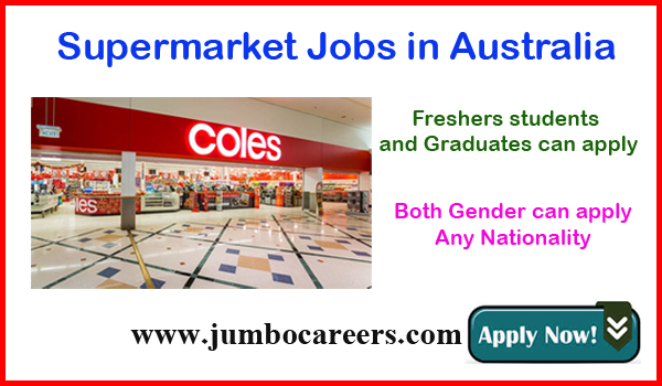 Supermarket jobs in Australia for Indians, Recent Australian jobs with salary,