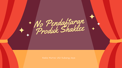Senarai No. Pendaftaran KKM Produk Shaklee