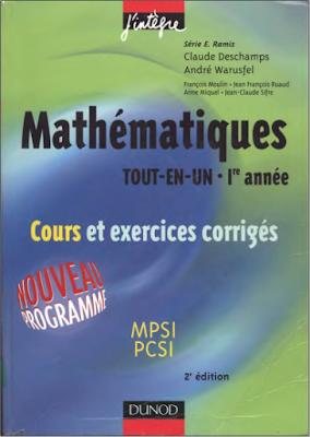 Télécharger Livre Gratuit Cours et exercices corrigés - Mathématiques tout-en-un 1ère année MPSI-PCSI pdf