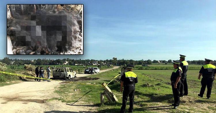 Hallan 5 cadáveres calcinados en camioneta entre Edomex e Hidalgo