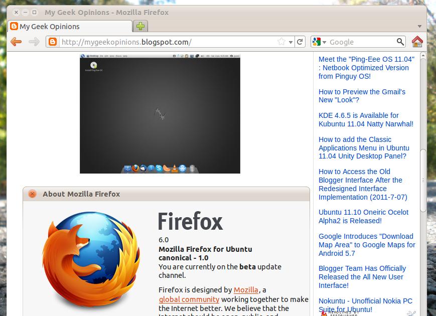 How To Install Firefox 6 (beta) In Ubuntu 11.04 Natty Narwhal?