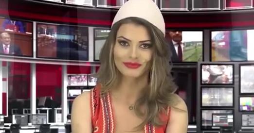 Albanian TV newsreaders strip down to boost audience   NTv