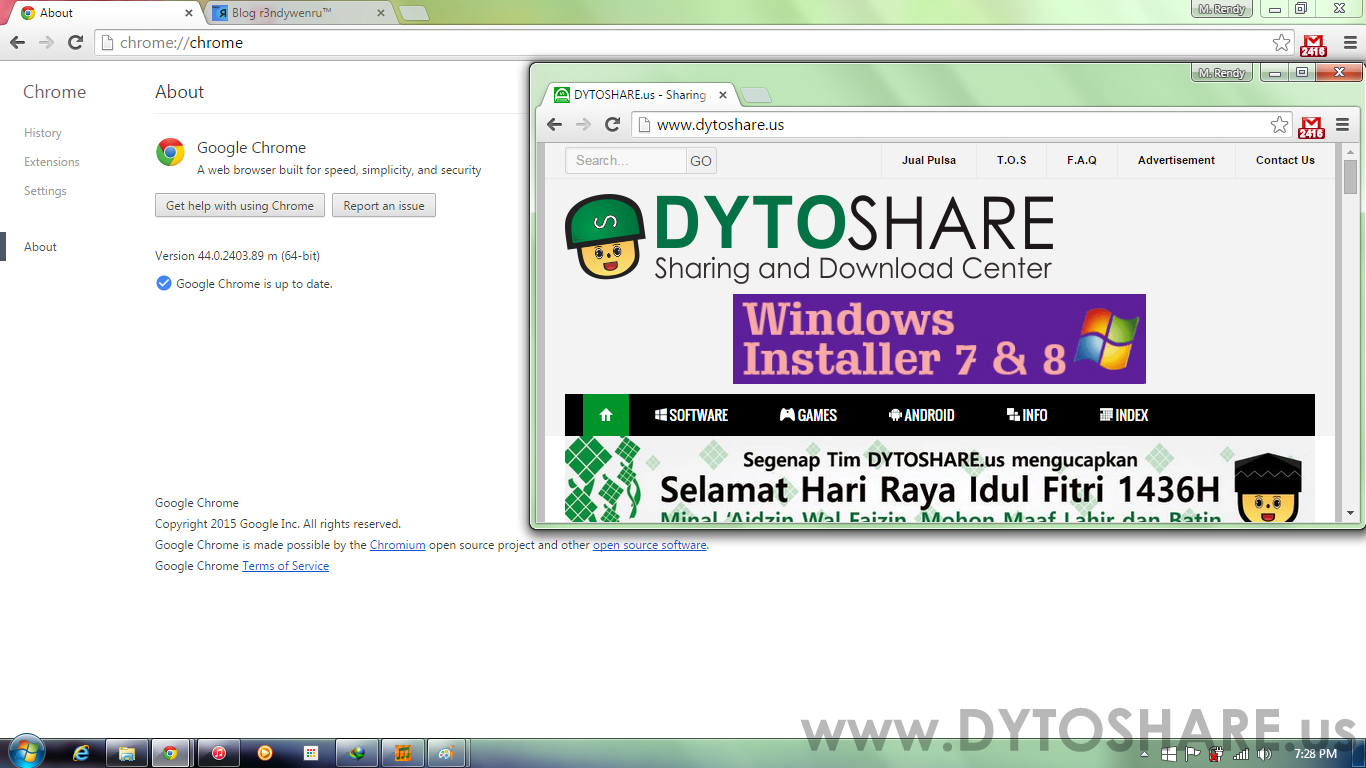 Google Chrome 44.0.2403.89 Offline Installer - Indonesia Komputers
