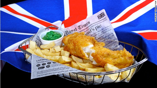 britain fish and chips