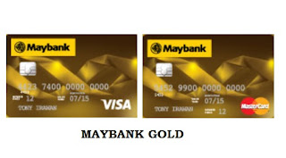 Design Kartu Kredit Maybank Gold