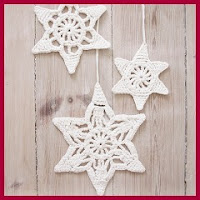 Copos navideños a crochet