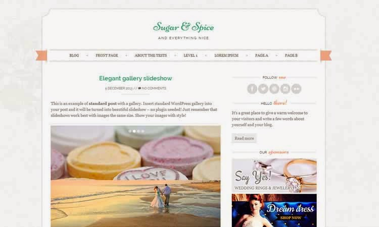 Sugar and Spice - Feminine blogging theme