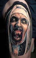 tatuaje para halloween la monja the nun