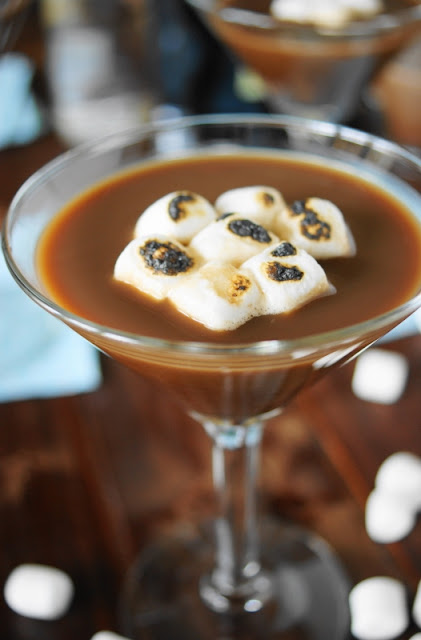 Hot Chocolate Martinis ~ Sit by the fire & sip this rich chocolate cocktail. It's the perfect plan for warming up on cool fall & winter days!  www.thekitchenismyplayground.com