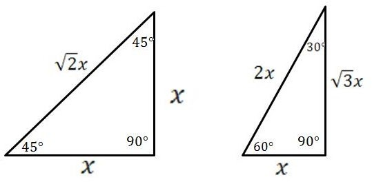 mathcounts notes: Special Right Triangles: 306090 and 454590 Degrees Right Triangles