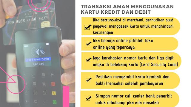 infografis cara aman transaksi kartu kredit