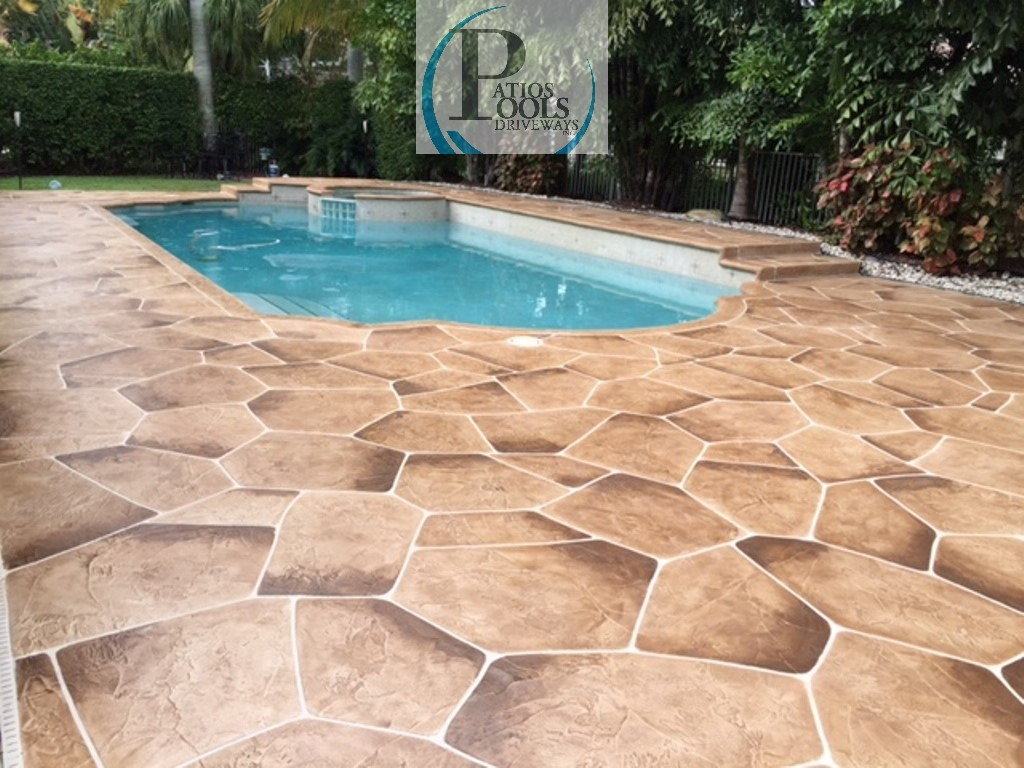 Decorative concrete the many faces for your driveway for Concrete pool