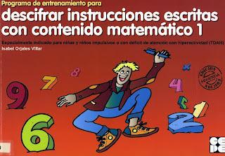 Resultado de imagen de LES VILLAR, I.  Programa de entrenamiento de instrucciones escritas con contenido matemático- 1: Editado por CEPE.
