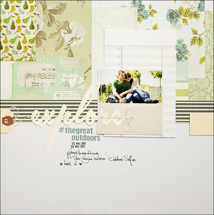 Explore the great outdoors - Scrapbooking Layout