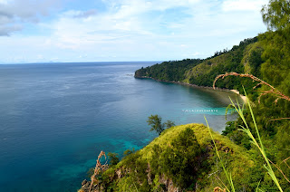 lautan teduh dilihat dari Bukit Pulisan, Likupang Timur, Minahasa Utara, Sulawesi Utara +jelajahsuwanto