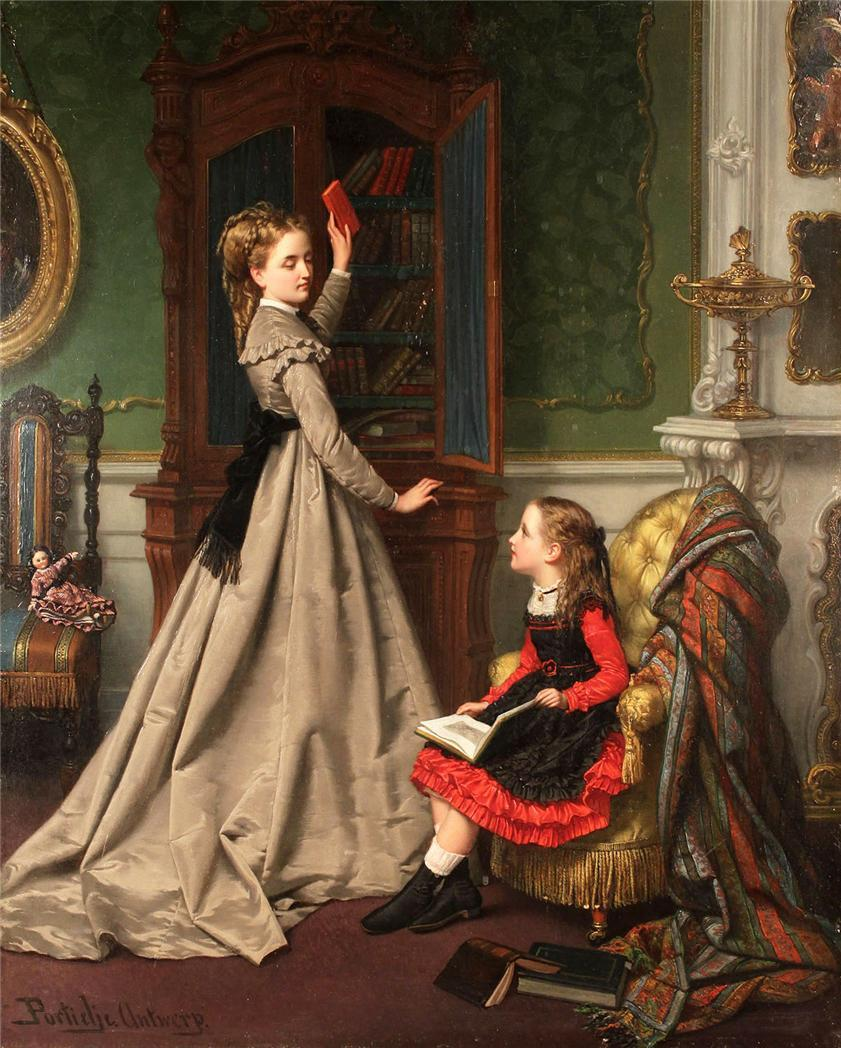 Paintings by Jan Frederik Pieter Portielje (1829-1908)