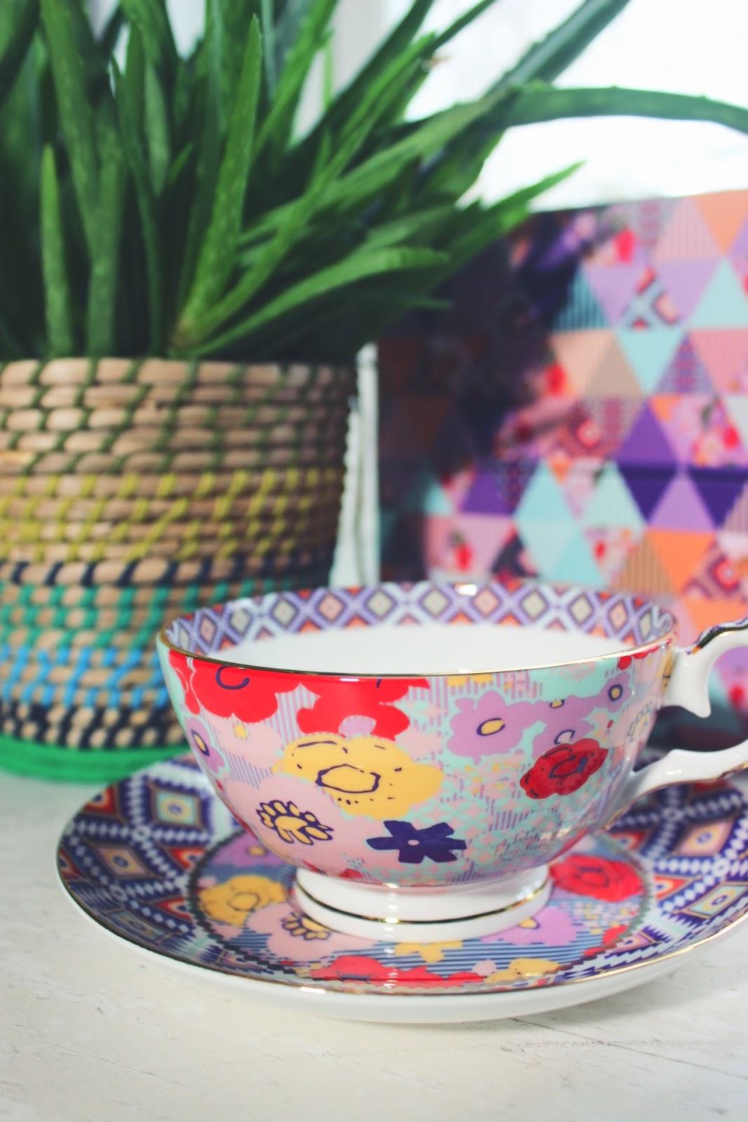 T2 Vintage Tea Bohemian Boho Printed Hippy Gift Set