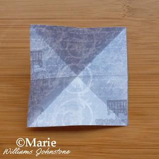 creased square paper