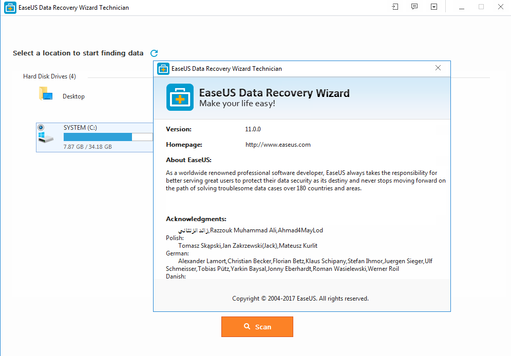 serial easeus data recovery wizard 11.0.0