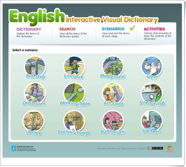 """English interactive Visual Dictionary"""