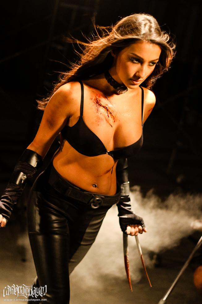 solenn heussaff sexy x-23 cosplay 02