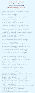 Letra y acordes del vals Flor de lino