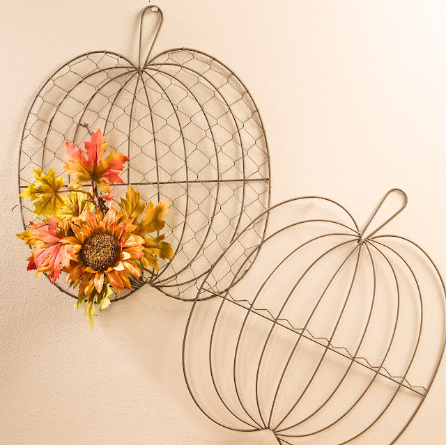 Fall Wire Pumpkin @craftsavy