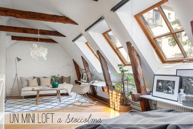Arredare piccoli spazi un mini loft a stoccolma home for Piccoli spazi da arredare