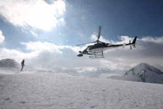 Helicopter Scene at Balkan Mountains