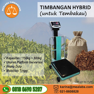 Timbangan Hybrid untuk Tembakau