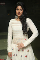 Megha Akash in beautiful White Anarkali Dress at Pre release function of Movie LIE ~ Celebrities Galleries 032.JPG