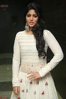 Megha Akash in beautiful White Anarkali Dress at Pre release function of Movie LIE ~ Celebrities Galleries 032.JPG