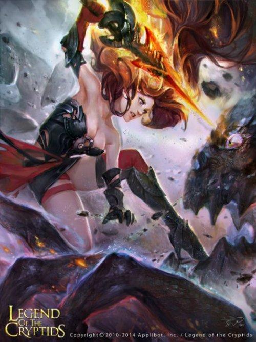 Zinna Du deviantart ilustrações fantasia games mulheres arte sensual beleza legend of the cryptids