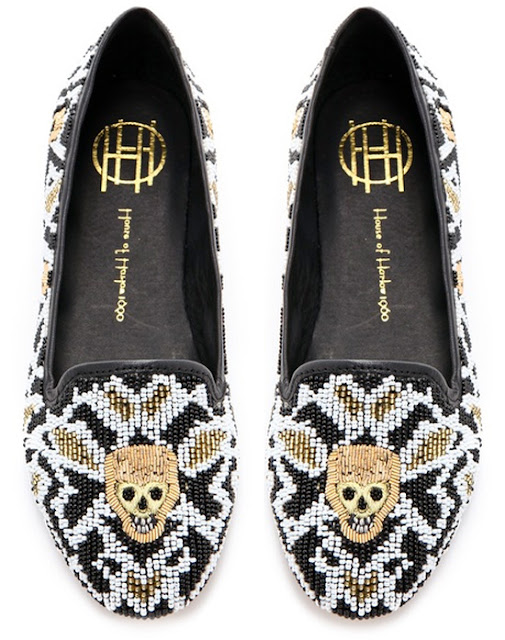 Zenith Beaded Flats from House of Harlow 1960 | UK fashion blog