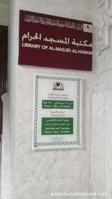 Jadwal waktu kunjungan Perpustakaan Masjidil Haram