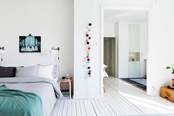 dormitorio y salón de un piso alquilado
