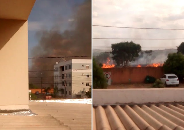 Incêndio em São Sebastião atinge áreas próximo a casas e à Papuda