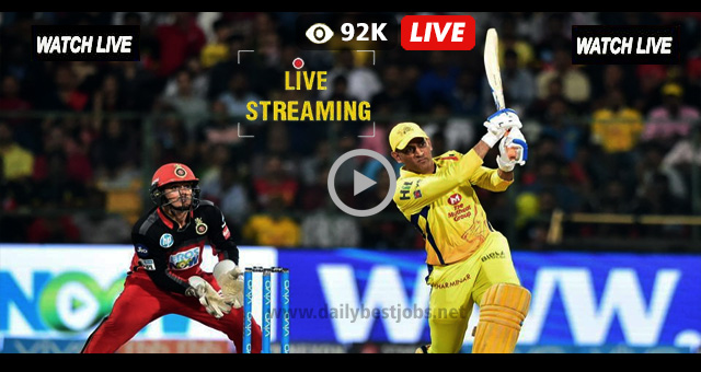 CSK vs RCB Live Streaming Online Cricket Score IPL