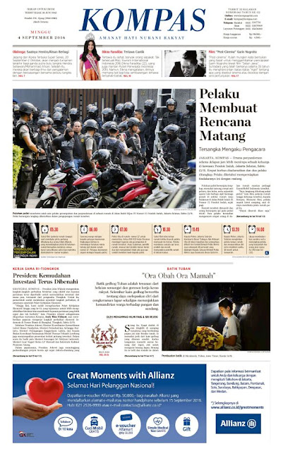 Kompas Edisi Minggu 4 September 2016