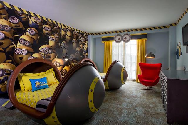 Como é o quarto Meu Malvado Favorito em Orlando