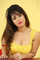 Cute Telugu Actress Shunaya Solanki High Definition Spicy Pos in Yellow Top and Skirt  0553.JPG